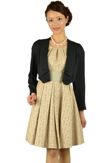 ベージュジャガードドレスセット