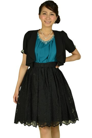 グリーン×ブラックドレスセット