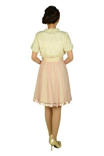 ピンクチュールスカートドレスセット