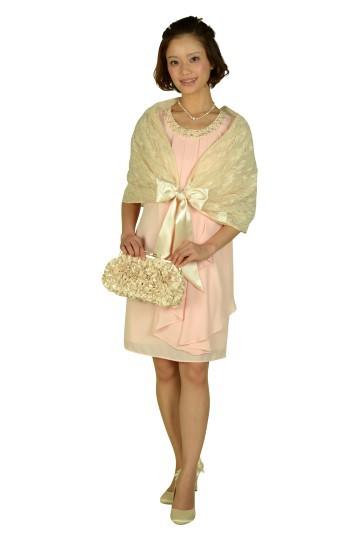 ピンクノースリーブドレスセット