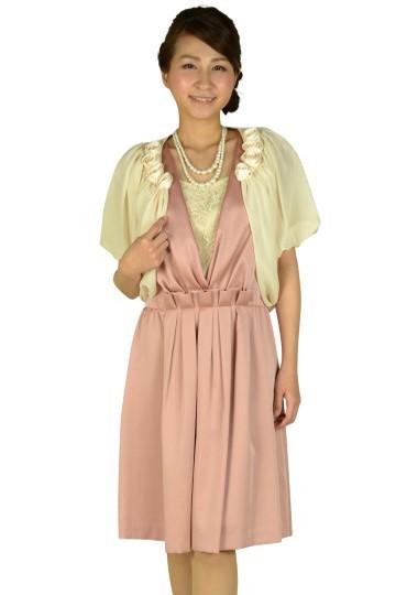 カシュクールピンクドレスセット