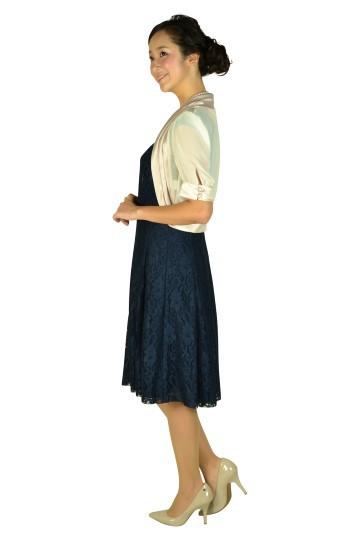 フレンチネイビーレースドレスセット