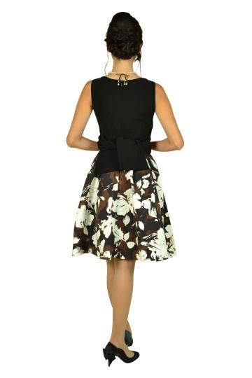 シックフラワーブラックドレスセット