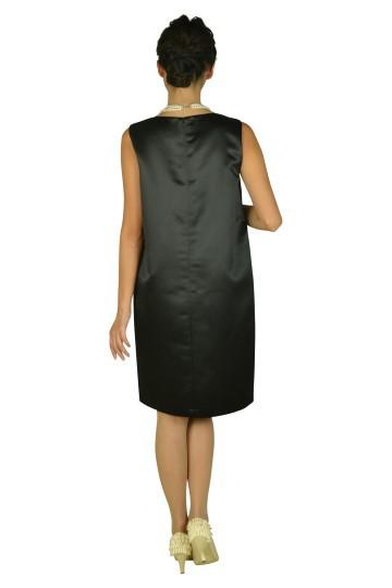 ゆったり光沢ブラックドレスセット