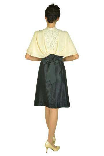 半袖シンプルシャンタンネイビードレスセット