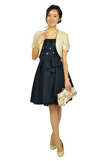 フラワー刺繍ネイビードレスセット
