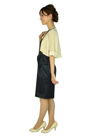 ダークネイビーリボンデザインドレスセット