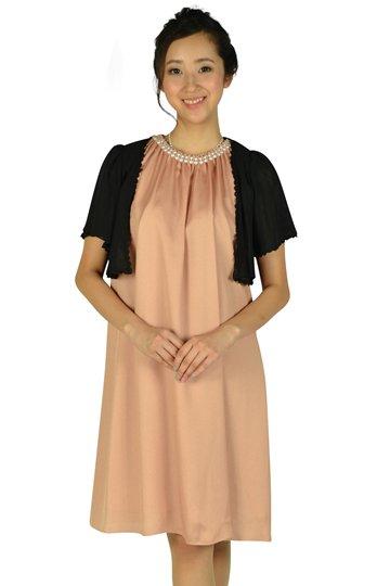 パールビジュゴールドオレンジドレスセット
