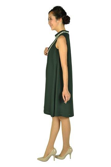 ダブルビジュダークグリーンドレス