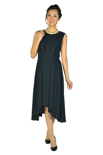 イレギュラーヘムネイビードレス