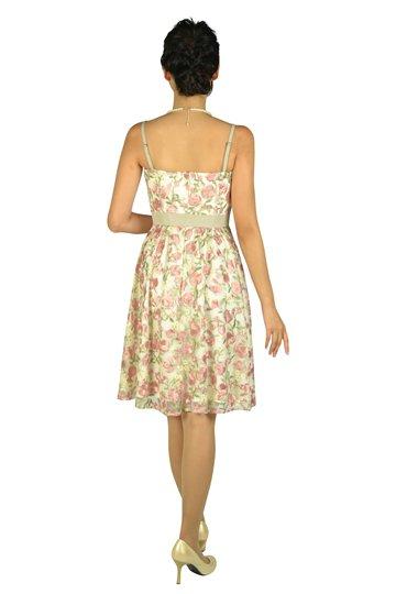 フラワー総刺繍ピンクドレスセット