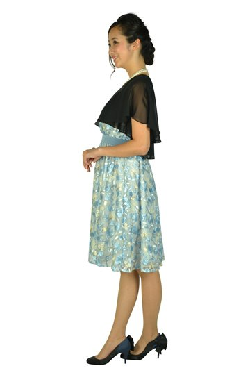 フラワー総刺繍サックスドレスセット