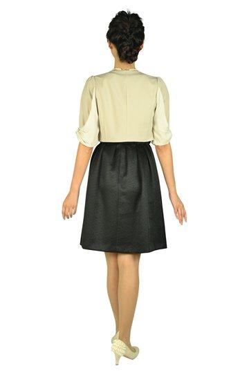 ベルト付きラメブラックドレスセット