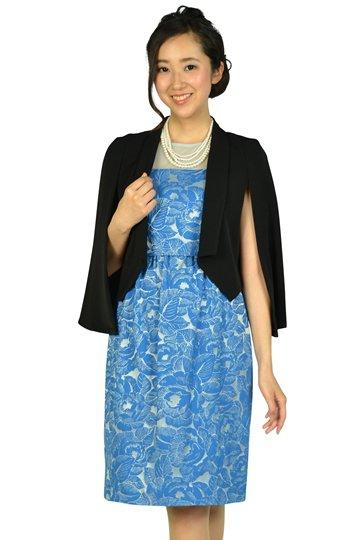 フラワー刺繍ブルードレスセット