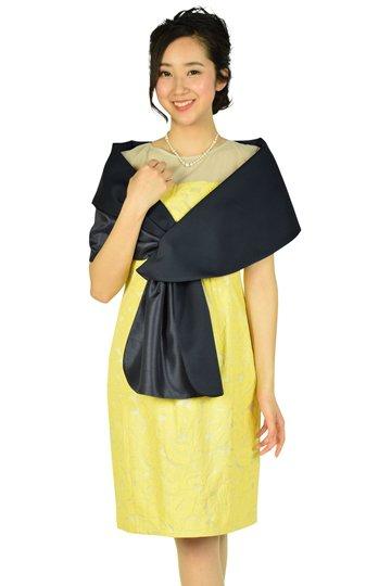 フラワー刺繍レモンイエロードレスセット