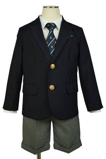 濃紺ブレザー×グレースーツセット