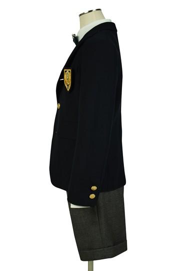 金ボタン紺ブレザー×グレースーツセット