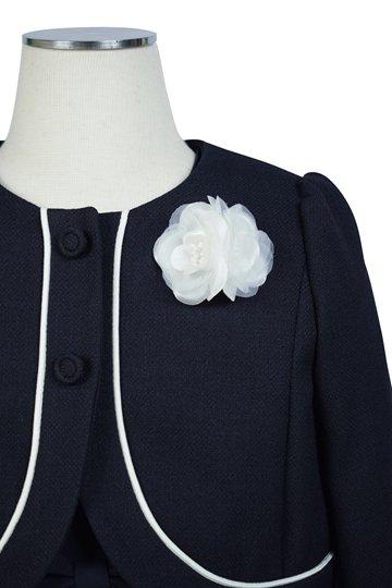 フラワー刺繍ネイビー×ホワイトワンピースセット