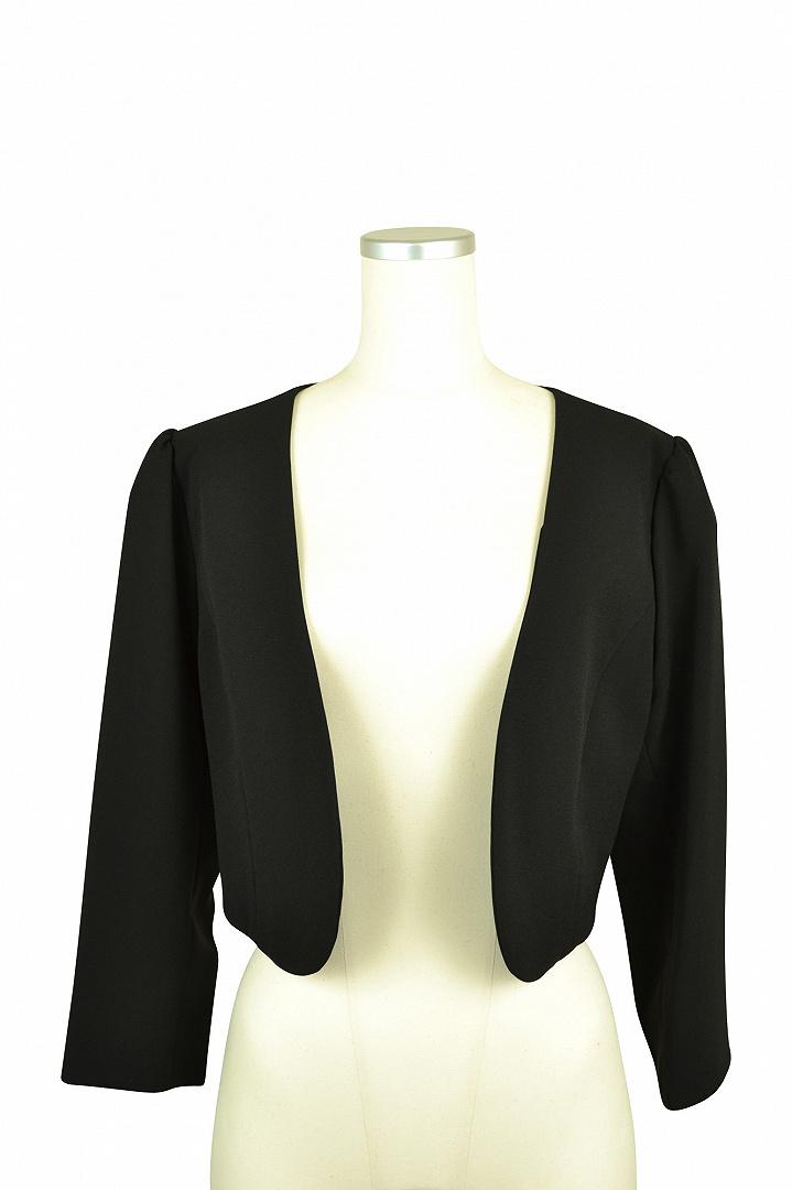 ブラック7分袖ジャケット