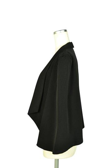 襟付きケープ袖ブラックジャケット