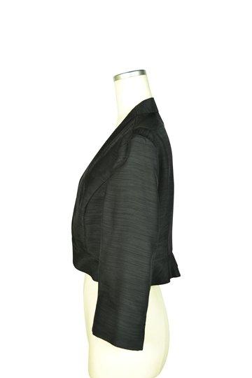 エレガントシャンタンブラックジャケット