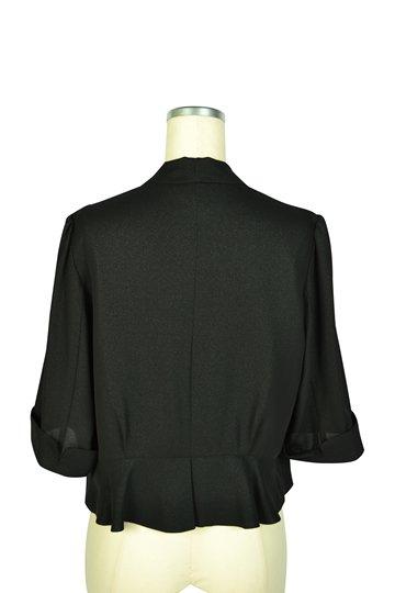 襟付き5分袖ブラックボレロ