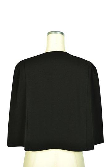 シンプルケープ袖ブラックジャケット