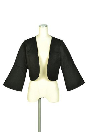 ベル袖ブラックジャケット