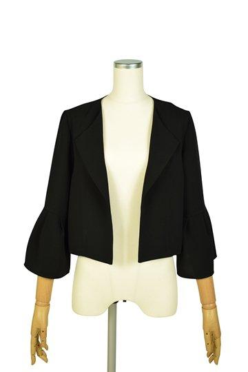 襟付きベル袖ブラックジャケット
