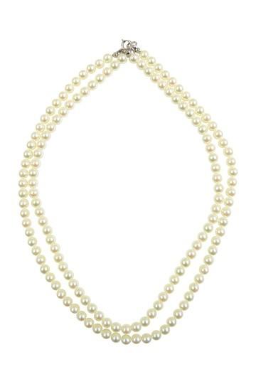 シンプルパール2連ネックレス