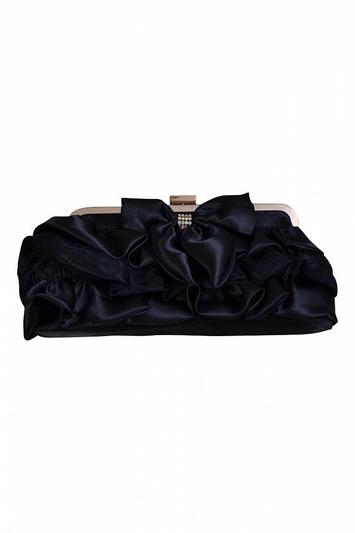 ブラックリボンモチーフバッグ