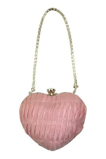 ピンクハートモチーフバッグ