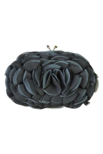 ブラックローズモチーフバッグ