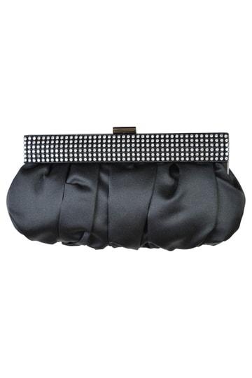 クリスタル付きブラックバッグ