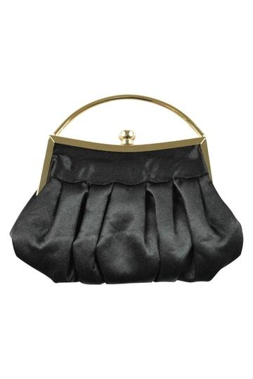 持ち手付き上品ブラックバッグ