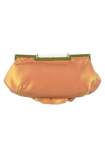 ローズモチーフオレンジバッグ