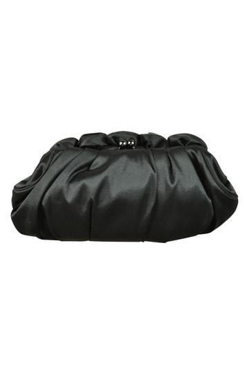 フラワーコサージュブラックバッグ