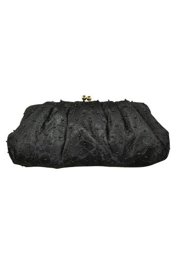 ブラックビーズシンプルバッグ