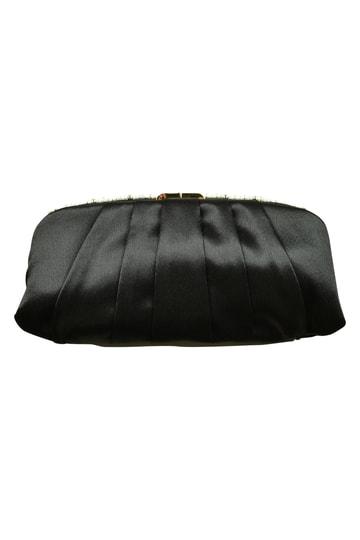華やかタックブラックバッグ
