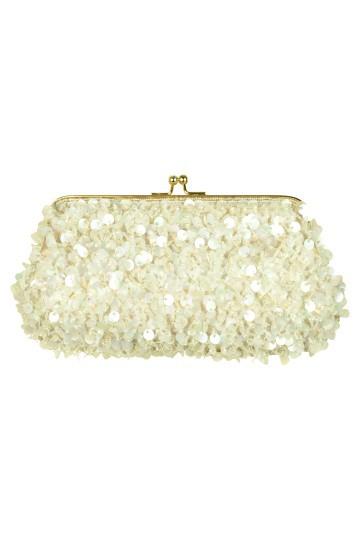 クリアスパンコールホワイトバッグ