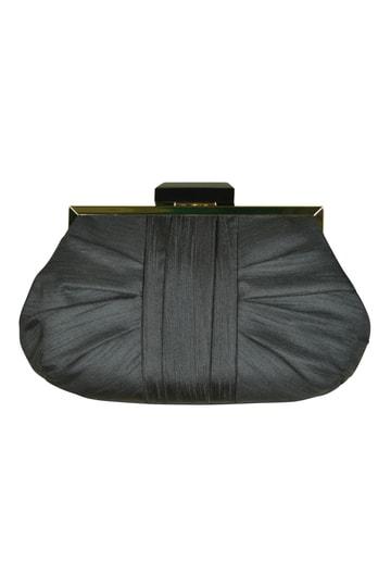 シャンタンブラックシンプルバッグ