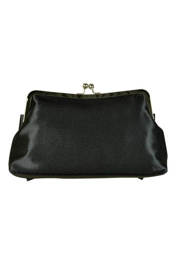 リボン風デザインブラックバッグ