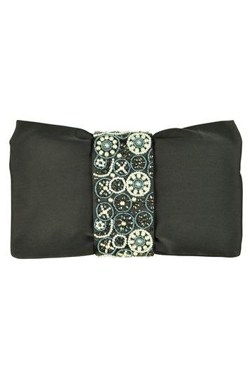 デザインビジュブラッククラッチバッグ
