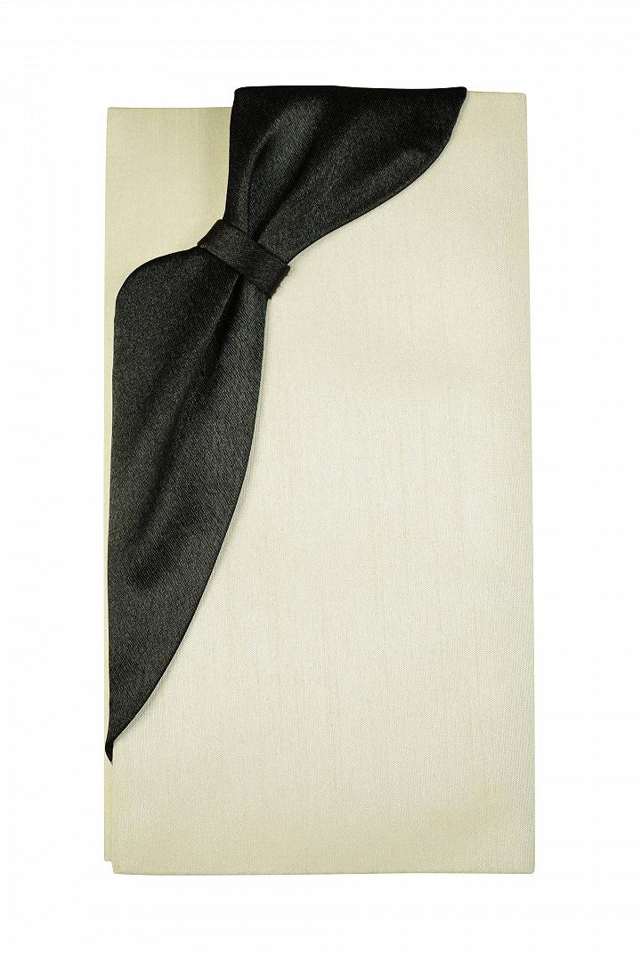 ブラックリボン×アイボリー袱紗