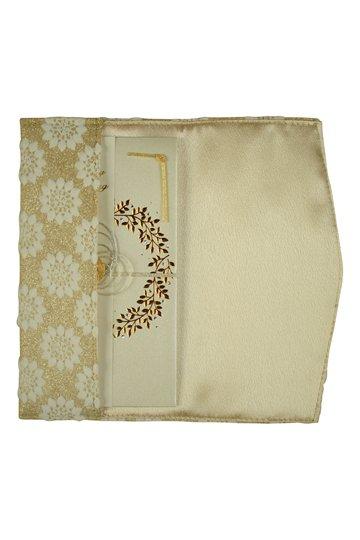フラワー刺繍ラメゴールド袱紗