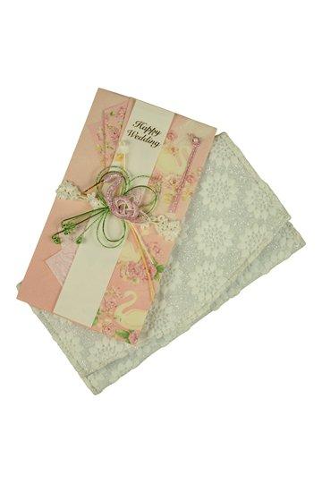 フラワー刺繍ラメシルバー袱紗