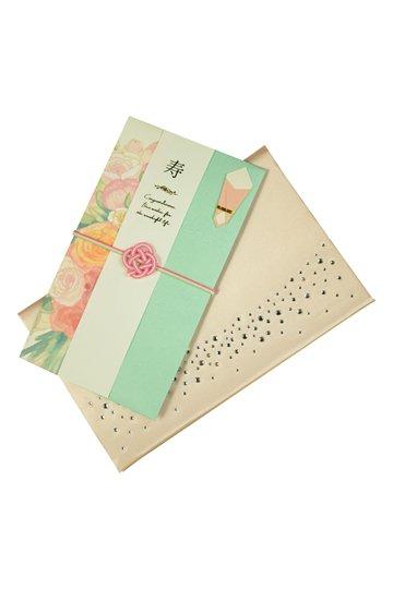 【祝儀袋】金封 フラワー パステルグリーン