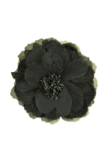 ブラックフラワーコサージュ